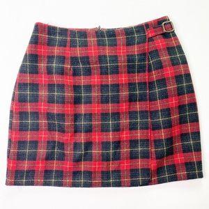 Vintage Hillard & Hanson Plaid Tartan Mini Skirt